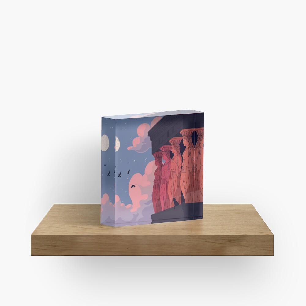 Caryatids at Dusk Acrylic Block