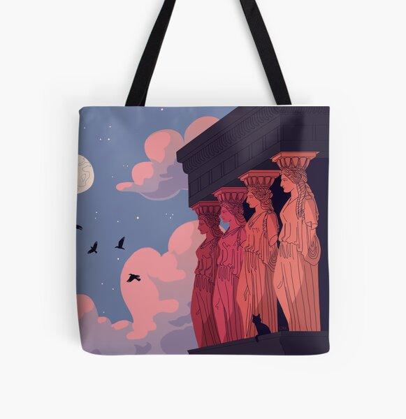 Caryatids at Dusk All Over Print Tote Bag