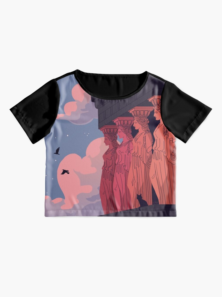 Alternate view of Caryatids at Dusk Chiffon Top