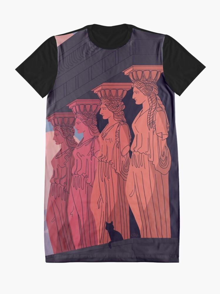 Alternate view of Caryatids at Dusk Graphic T-Shirt Dress