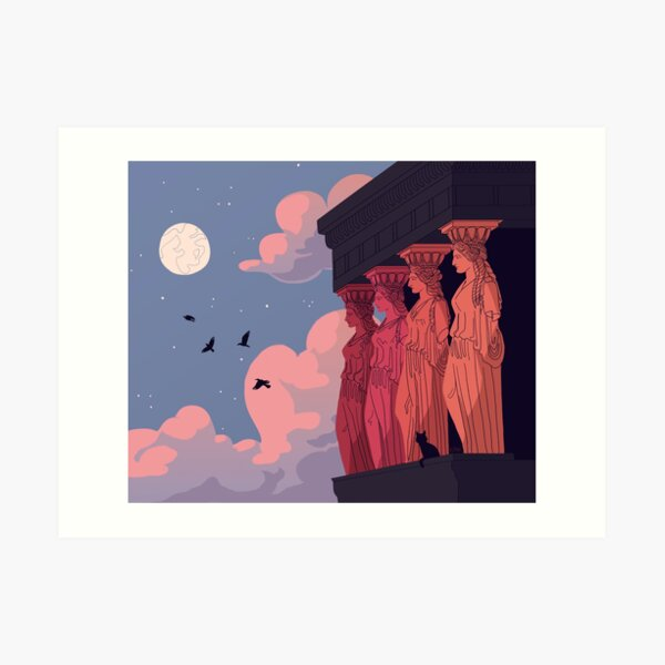 Caryatids at Dusk Art Print