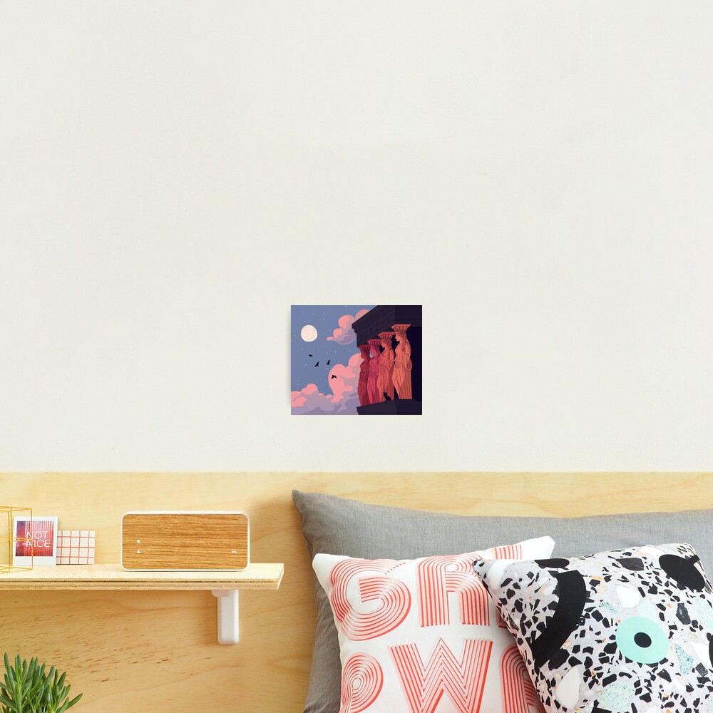Caryatids at Dusk Photographic Print