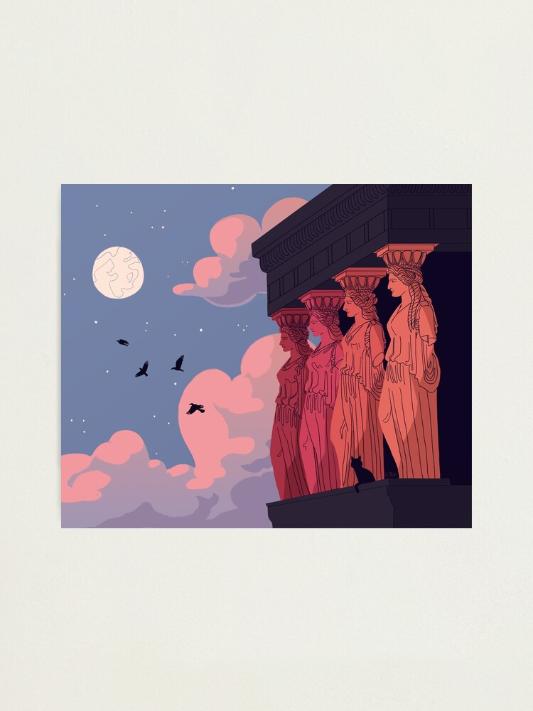 Alternate view of Caryatids at Dusk Photographic Print
