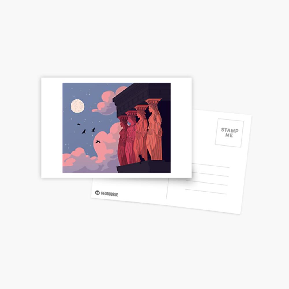 Caryatids at Dusk Postcard