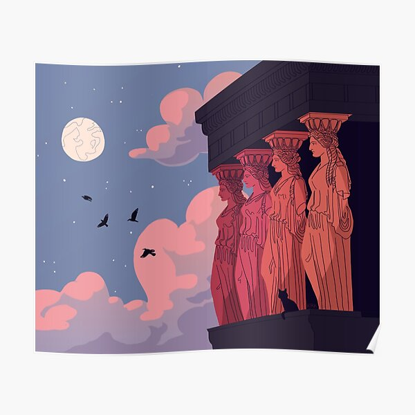 Caryatids at Dusk Poster