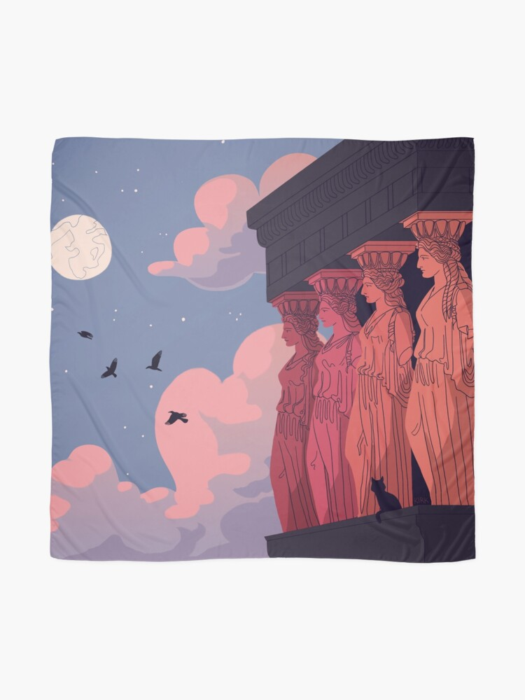 Alternate view of Caryatids at Dusk Scarf