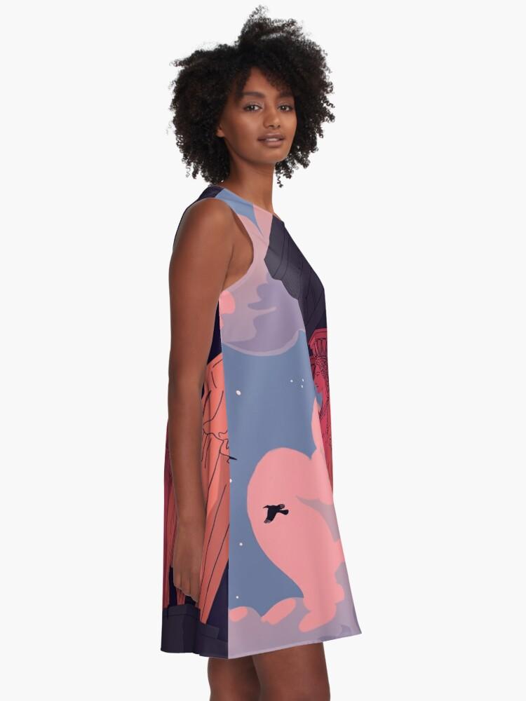 Alternate view of Caryatids at Dusk A-Line Dress