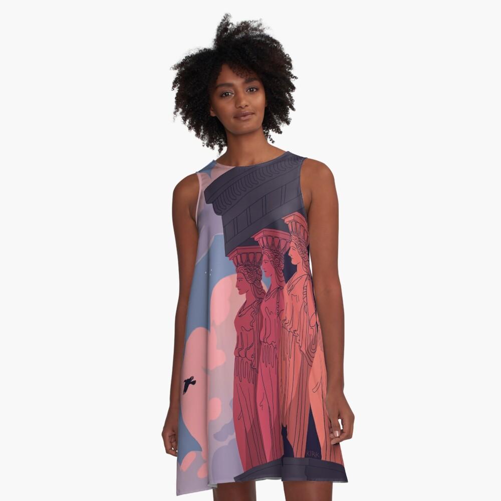 Caryatids at Dusk A-Line Dress