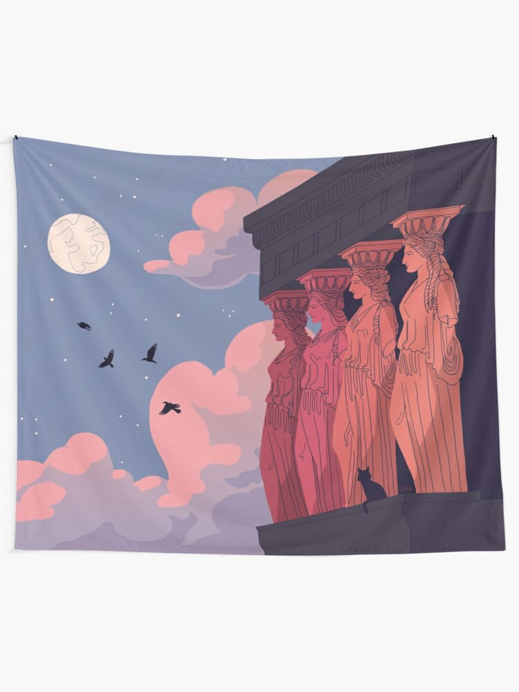 Alternate view of Caryatids at Dusk Tapestry