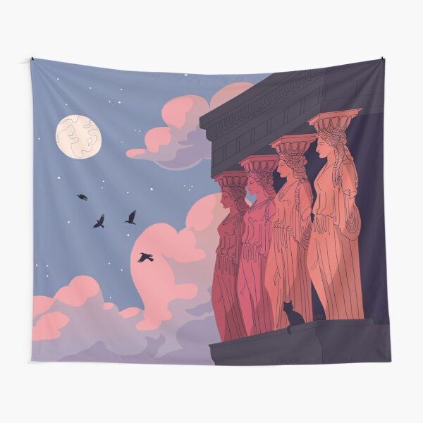 Caryatids at Dusk Tapestry