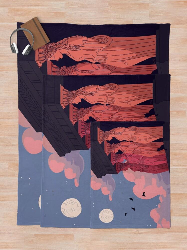 Alternate view of Caryatids at Dusk Throw Blanket