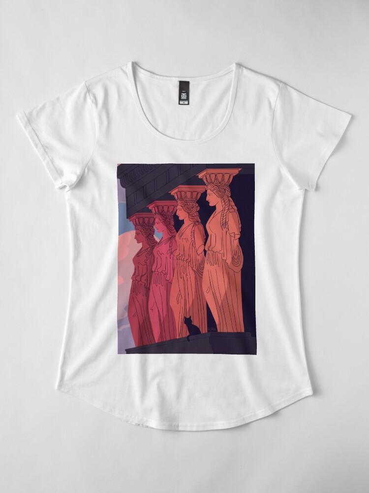 Alternate view of Caryatids at Dusk Premium Scoop T-Shirt