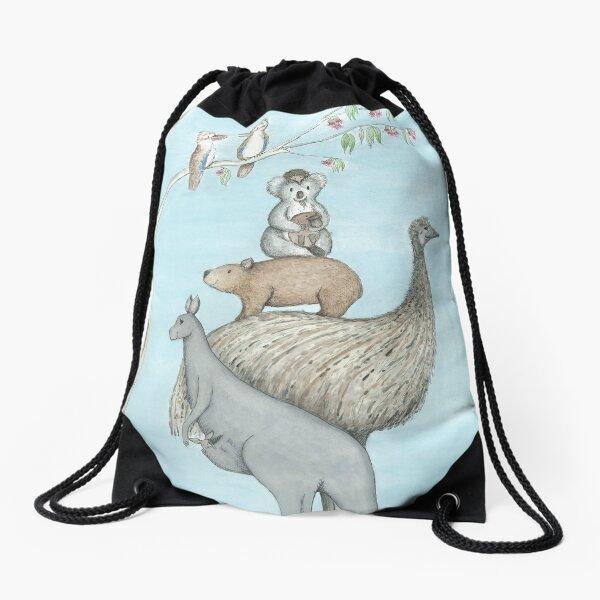 Australian Native Animal Stack Drawstring Bag