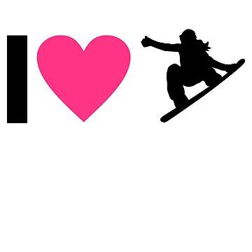 I love snowboarding by Pferdefreundin