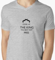 Come At The King, You Best Not Miss (black) Men's V-Neck T-Shirt
