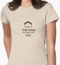 Come At The King, You Best Not Miss (black) Women's Fitted T-Shirt