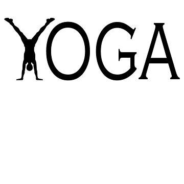 Yoga handstand by Pferdefreundin