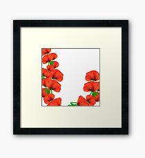 Watercolor garden floral poppy Framed Print