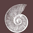 FOSSIL AMMONITE Cool MARINE LIFE T-Shirt SURFER STYLE Nature and Wildlife Original photo graphic design by VIDDAtees