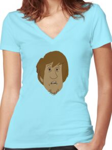 Shaggy Women's Fitted V-Neck T-Shirt