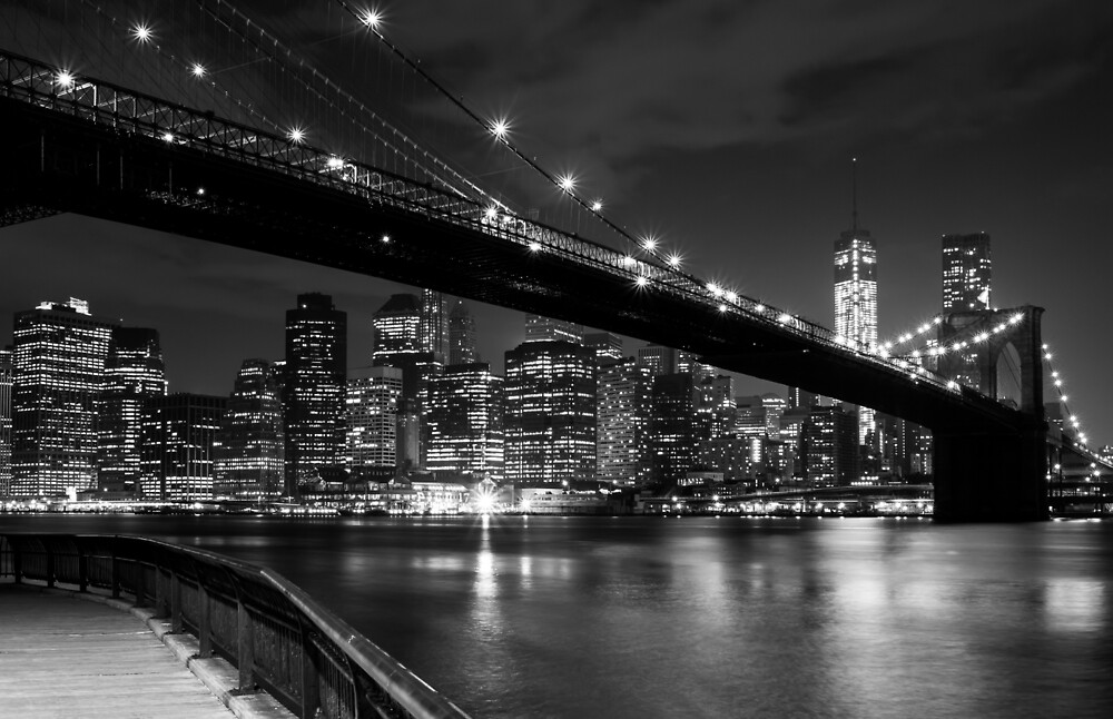 The Lights Of Lower Manhattan by Clay Townsend