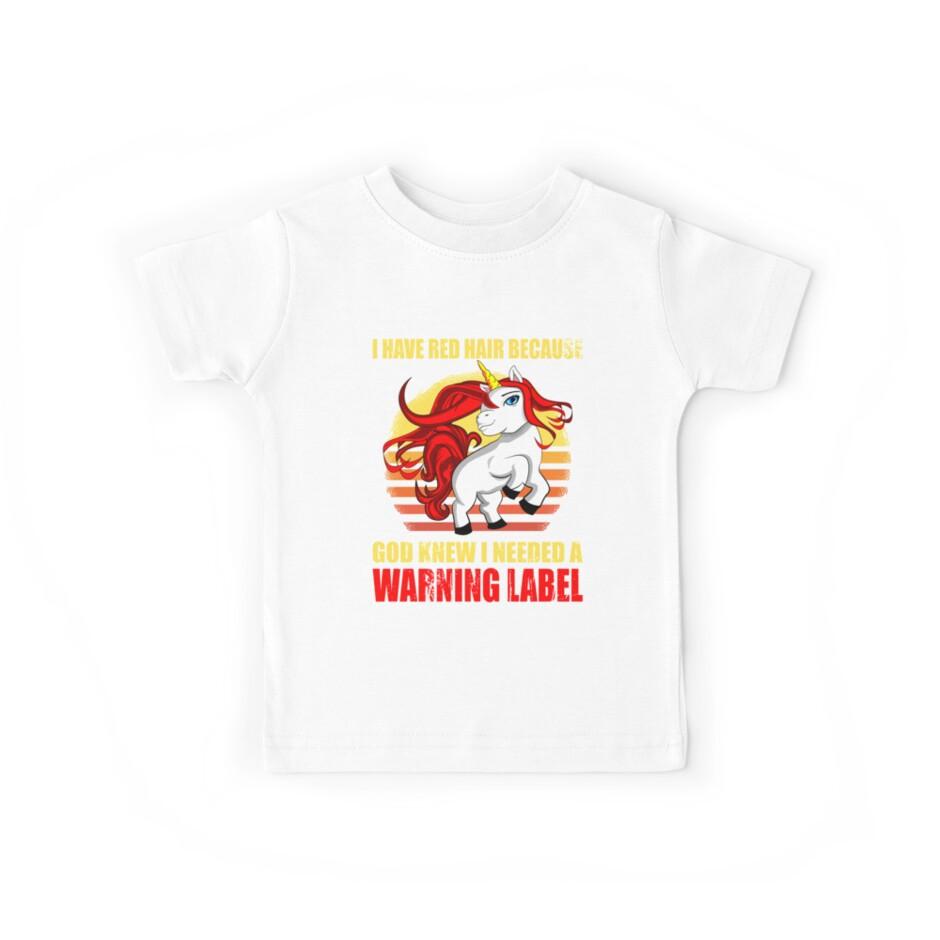Unicorn Red Hair Warning Label von Daniel0603