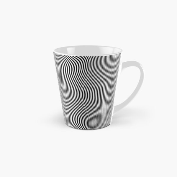 design, pattern, abstract, illustration, art, vector, metallic, wave, shape, illusion Tall Mug