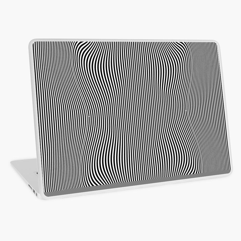 design, pattern, abstract, illustration, art, vector, metallic, wave, shape, illusion Laptop Skin