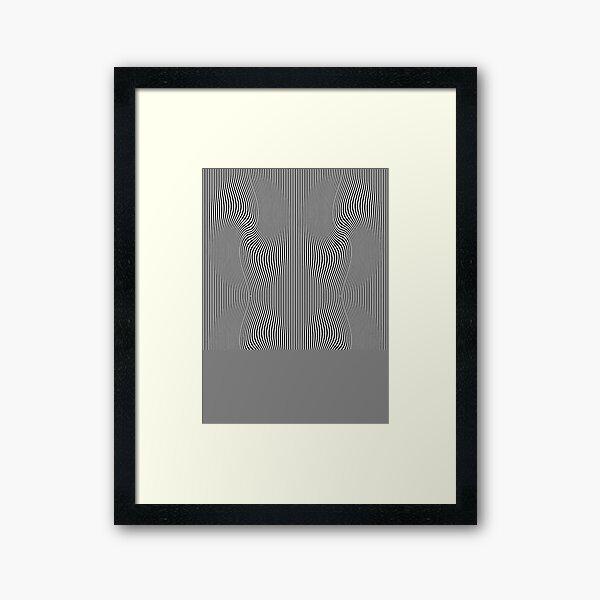 design, pattern, abstract, illustration, art, vector, metallic, wave, shape, illusion Framed Art Print