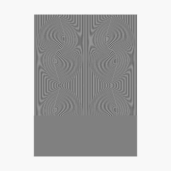 design, pattern, abstract, illustration, art, vector, metallic, wave, shape, illusion Photographic Print