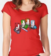Castle Crashers - The Elements Women's Fitted Scoop T-Shirt