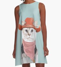 Rodeo Cat A-Linien Kleid