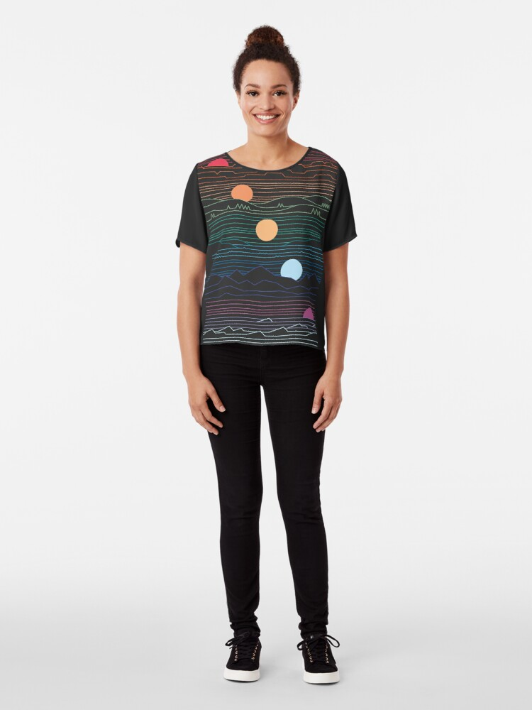 Alternate view of Many Lands Under One Sun Chiffon Top