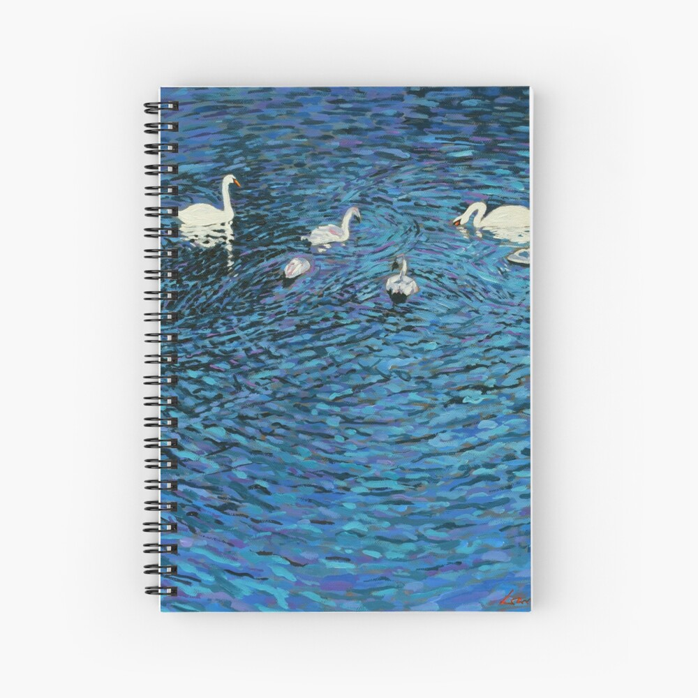 Swan Family Spiral Notebook