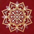 Cosmic Rose Mandala  by FRANKEY CRAIG