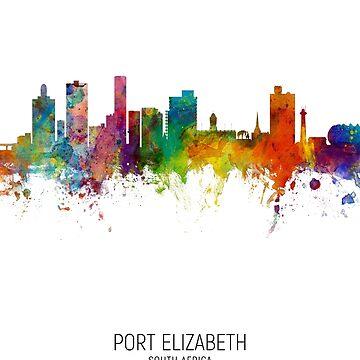 Port Elizabeth Sudáfrica Skyline de ArtPrints