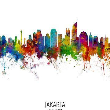 Jakarta Skyline Indonesia de ArtPrints