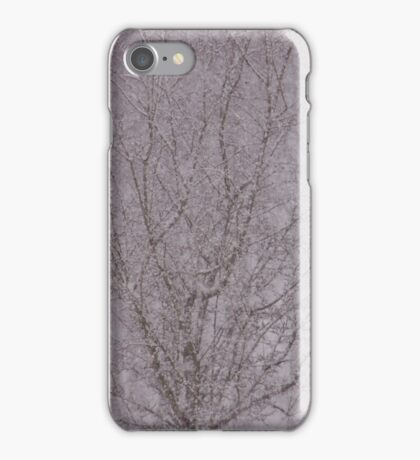Snowy haiku iPhone Case/Skin