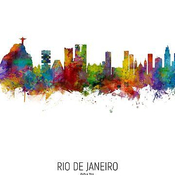 Rio de Janeiro Skyline Brasil de ArtPrints