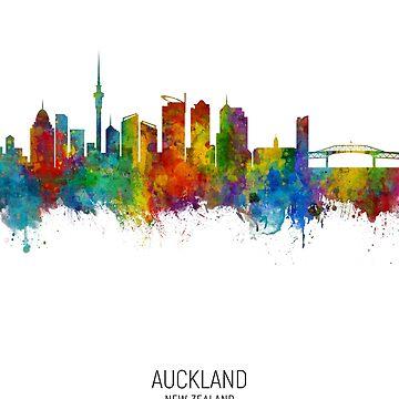 Skyline de Auckland Nueva Zelanda de ArtPrints