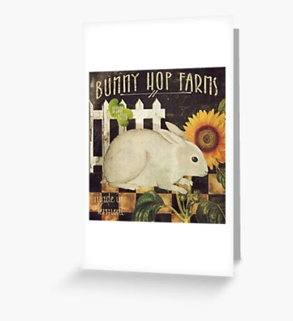 Vermont Farms Bunny Hop Greeting Card
