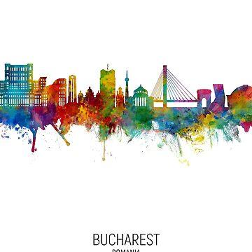 Bucarest Rumania Skyline de ArtPrints