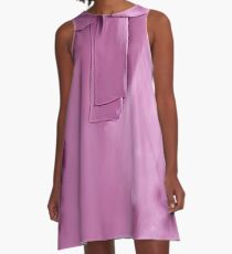 Lilac tie neck design inspired Kate A-Line Dress