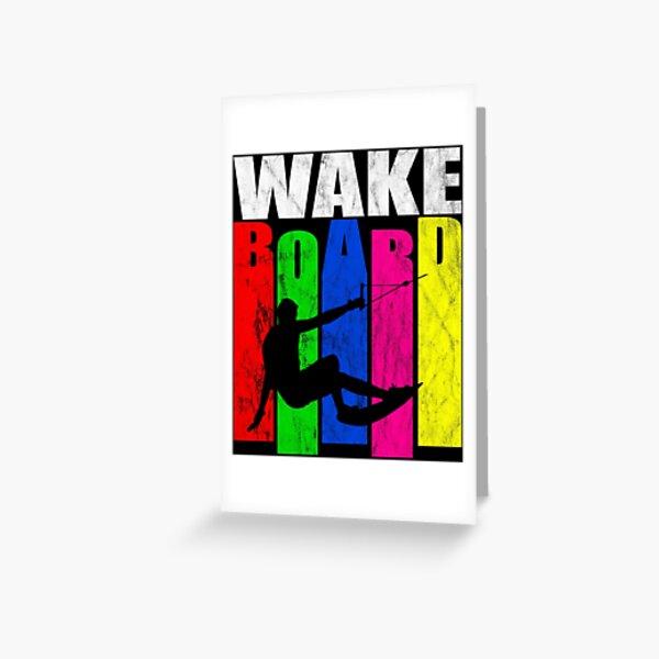 Wakeboard, wakeboarding, gift, idea Greeting Card