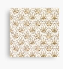 Gold and white pearl art deco pattern Canvas Print