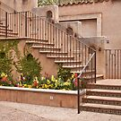 Stairway in Tlaquepaque, Sedona, AZ by Barb White