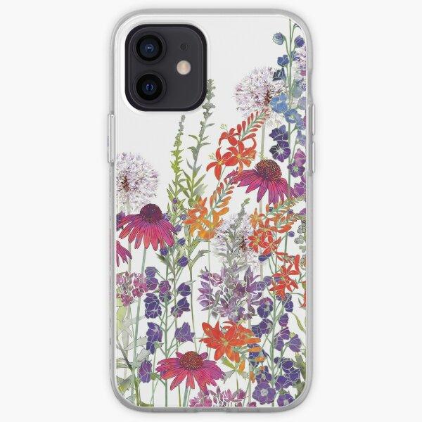 Blumengarten - Echinacea, Montbretia (Crocosmia), Delphiniums & Alliums iPhone Flexible Hülle