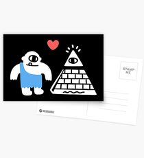 Adorable Conspiracy Theory Postcards
