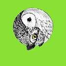 OWL - Yin and Yang graphic Art Design Nature and Wildlife Original by VIDDAtees