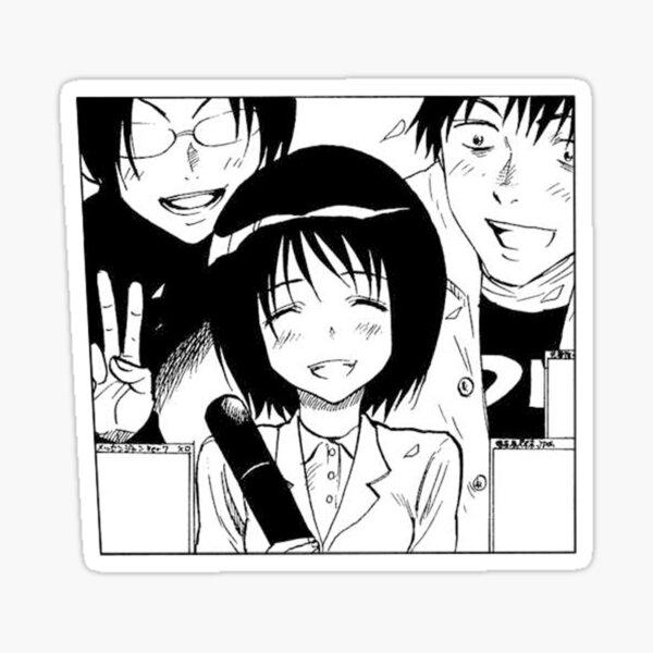 misaki nakahara welcome to the nhk anime stickers redbubble